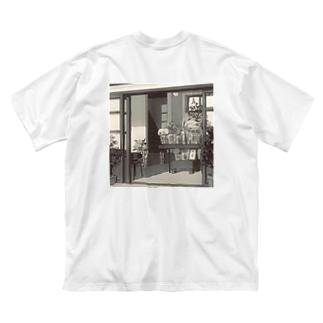 誰もいない花屋さん モノトーン Big silhouette T-shirts