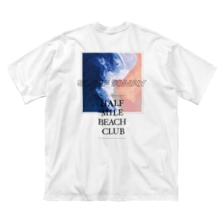 HALF MILE BEACH CLUBのSURF AWAY - SERIF Big silhouette T-shirts