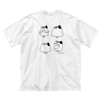 ネコメジェド Big silhouette T-shirts