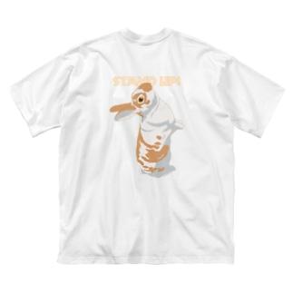 うたっちミニレッキスさん/カラー/背面 Big silhouette T-shirts