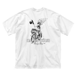 """HAPPY HOUR""(B&W) #2 Big T-shirts"