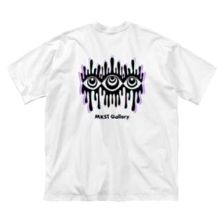Melting eyes_hologram Big silhouette T-shirts