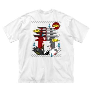 四尾*妖の夜 Big silhouette T-shirts