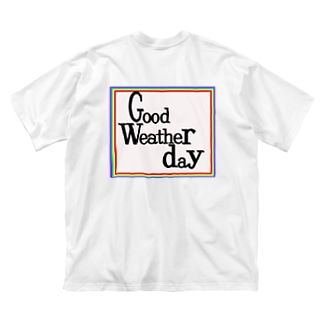 goodweatherday_ロゴビッグT Big silhouette T-shirts