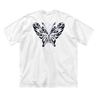 REMENTAL Butterfly Big silhouette T-shirts