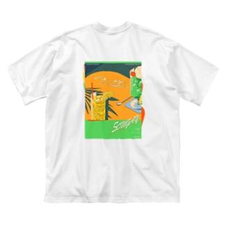 "ARTWORK ""SUNSET"" Big silhouette T-shirts"