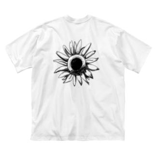 ひまわりビッグT Big silhouette T-shirts