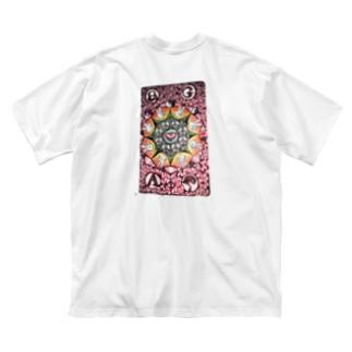 D.F PEACE Big silhouette T-shirts