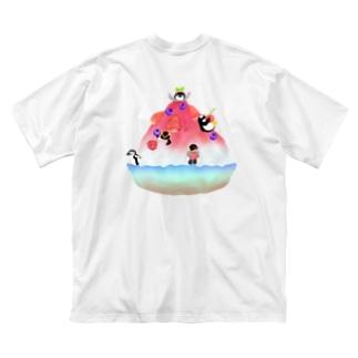 かき氷とペンギンたち② Big T-shirts