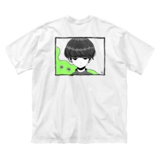 たろうtシャツ バックプリント Big silhouette T-shirts