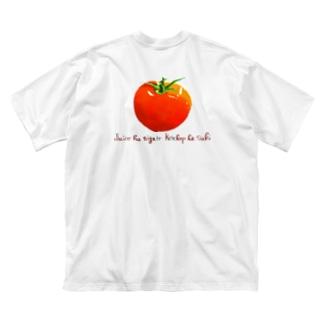 ※背面印刷 ジュースは苦手。ケチャップは好き。 Big Silhouette T-Shirt
