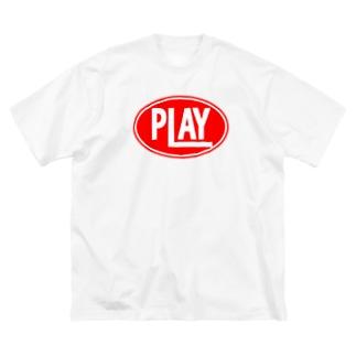 ELLIPSE LOGO R ① Big silhouette T-shirts