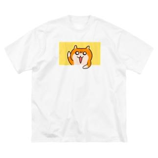 ヤホ!ってしてるクソハムちゃん(黄) Big silhouette T-shirts