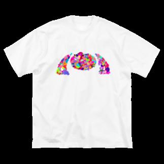 meiroのぼんやりとしたツインテール Big silhouette T-shirts