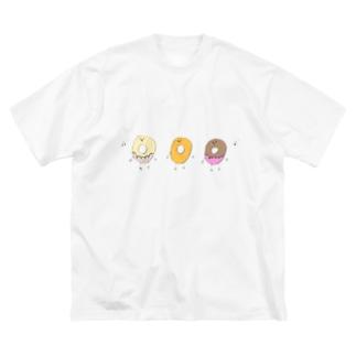 唄うドーナッツ Big silhouette T-shirts