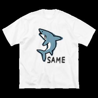moguのサメ Big silhouette T-shirts
