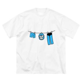 マスクマンの休日 Big silhouette T-shirts