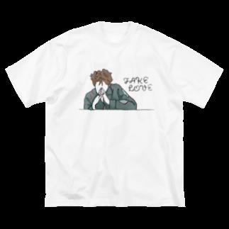 mksnのDRAW FAKE LOVE RM Big silhouette T-shirts