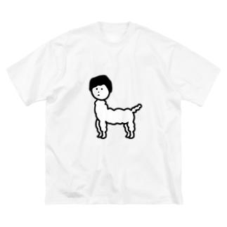 じんめんアルパカ Big silhouette T-shirts