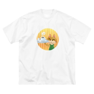 ねこオーナーのコーヒー Big silhouette T-shirts