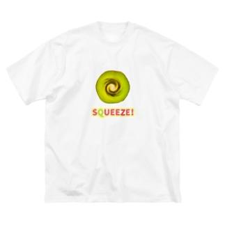 Squeeze! Kiwifruits Big silhouette T-shirts
