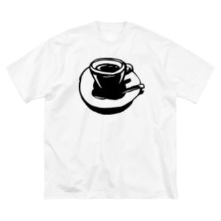 coffee break Big silhouette T-shirts
