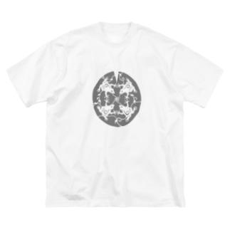 かえるのうた Big silhouette T-shirts