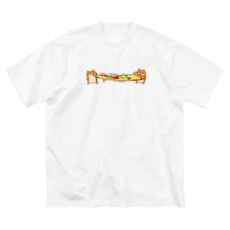 ピザビヨーンクソハム Big silhouette T-shirts