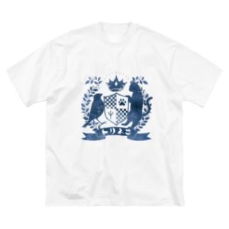 トリネコエンブレム(青) Big silhouette T-shirts