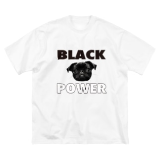 BLACK POWER パグ Big silhouette T-shirts