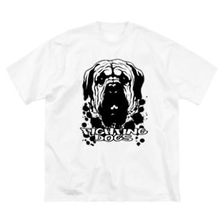 土佐犬 Big silhouette T-shirts