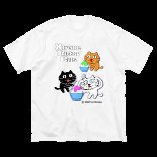ネコ兄弟のネコ兄弟 tXTC_38 Big silhouette T-shirts
