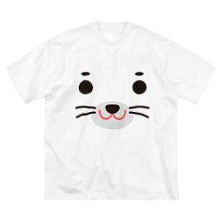 アザラシ-animal up-アニマルアップ- Big silhouette T-shirts