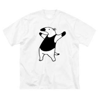 ichomaeの威嚇するコアリクイ Big silhouette T-shirts