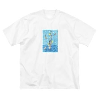 「白鳥の湖」 Big silhouette T-shirts