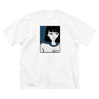 あとゐのガール Big silhouette T-shirts