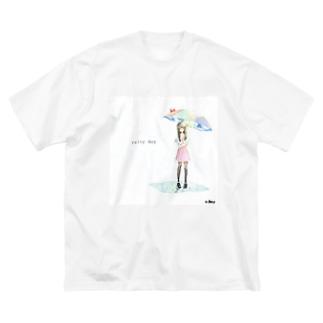rainy day Big silhouette T-shirts