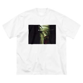 かっこいい地下鉄 Big silhouette T-shirts