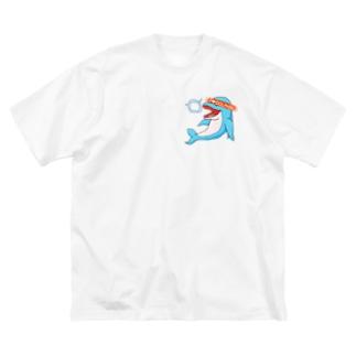 I ♡  DOLPHIN2 Big silhouette T-shirts