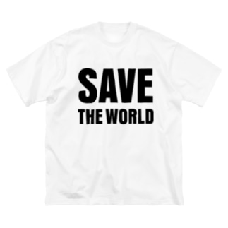 SAVE THE WORLD Big silhouette T-shirts