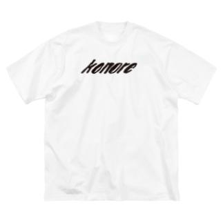 konore Black Logo series Big silhouette T-shirts