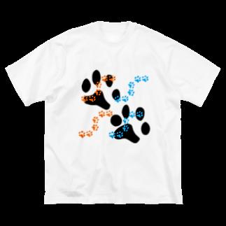 奥山 義徳の肉球 Big silhouette T-shirts