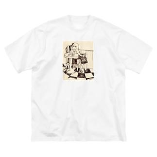 カフェテリア zine Big silhouette T-shirts