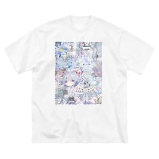 あんしん×リスカちゃん milk  Big silhouette T-shirts