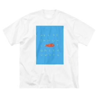 あるふぇべっとえっびっ Big silhouette T-shirts