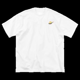 星宮あきの焼かれるオムかめ Big silhouette T-shirts
