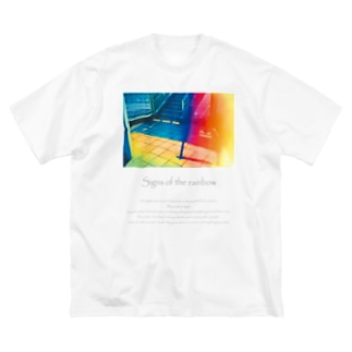 虹の気配 Big silhouette T-shirts