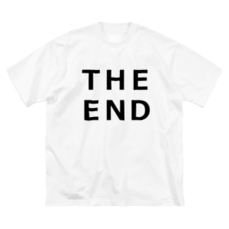 THE END (黒) Big silhouette T-shirts