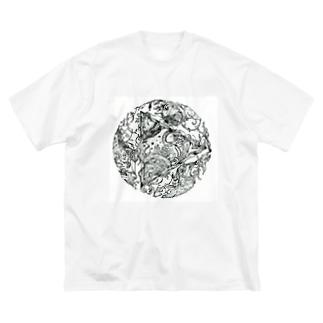 Tripled ビジュアルイラスト Big silhouette T-shirts