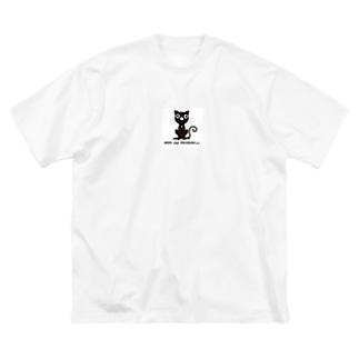 ©︎Nerd Cat Program++ Big silhouette T-shirts
